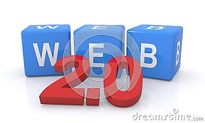 Web 2.0 letter cubes