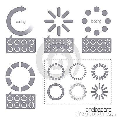 Web 2.0 Vector Progress Loader Icons