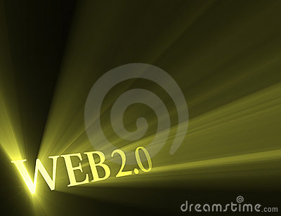 Web 2.0 version sign light flare