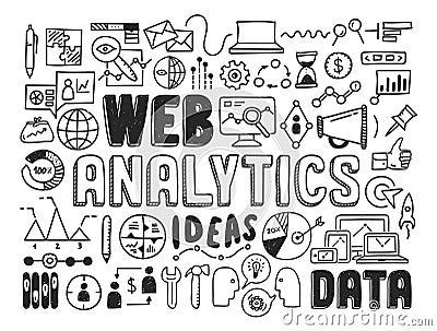 Web Analytics Doodle Elements Stock Image Image 34326331