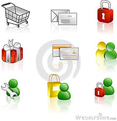 Free Web And Internet Icon Set Stock Photo - 1184610