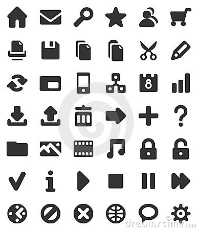 Free Web And Multimedia Icons Royalty Free Stock Photography - 9247097