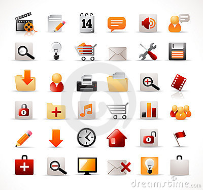 Free Web And Mutimedia Icons Stock Image - 8227441
