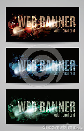 Free Web Banner With Shattered Effect Collection Stock Photos - 41106843