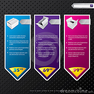 Web banners with products