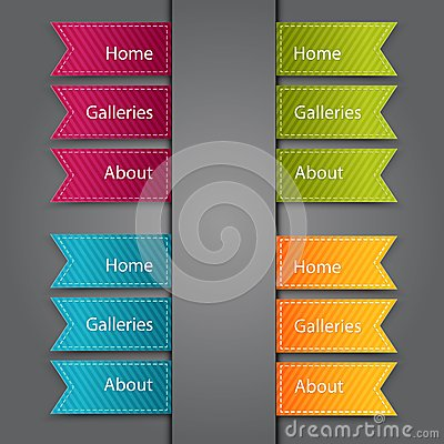 Web Bookmarks. Vector illustration