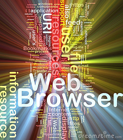 Web browser background concept glowing