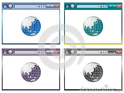 Web browser in vector