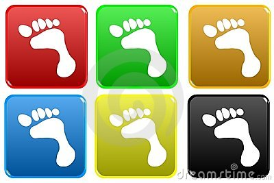 Web button - footstep