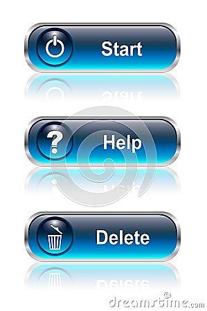 Web button, icon set