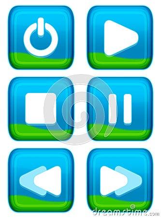 Free Web Button - Player Set Royalty Free Stock Image - 3272946