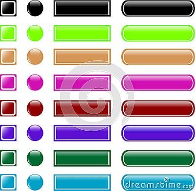 Web button set collection