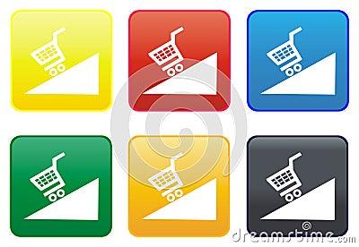 Web button - shopping cart