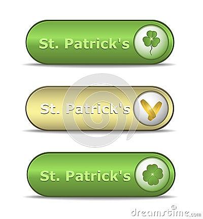 Web button St. Patrick s Day