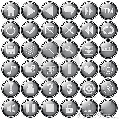 Free Web Buttons Royalty Free Stock Images - 181469