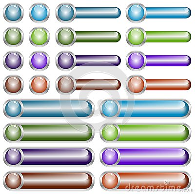 Web Buttons Chromed