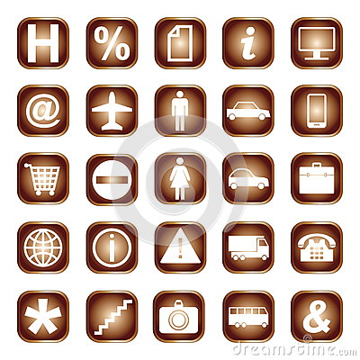 Web buttons, elements or icons