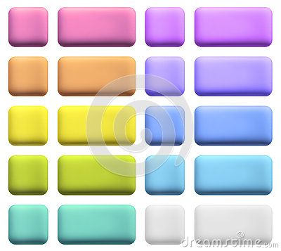 Web Buttons in Gentle Colors