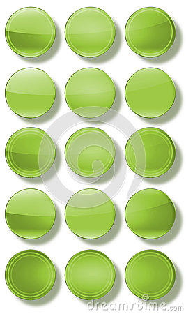 Web Buttons glossy- set