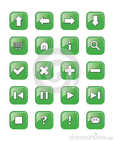 Web buttons icons, signs,