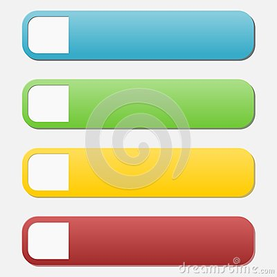 Web Buttons,infographic With Numbers Stock Illustration - Image ...