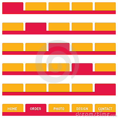 Free Web Buttons Or Tabs In Orange  Stock Image - 5580591