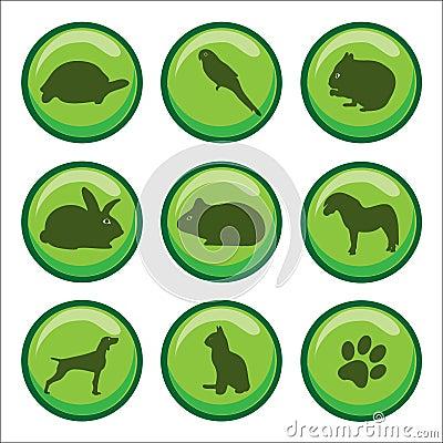 Web buttons pets paw print