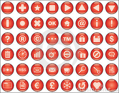 Web buttons red