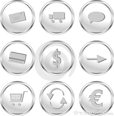 Web buttons for web shop/e-commerce