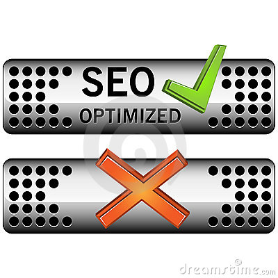 Web buttons wit accept and decline symbols