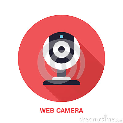 Free Web Camera Flat Style Icon. Wireless Technology, Video Computer Device Sign. Vector Illustration Of Communication Royalty Free Stock Image - 97794746
