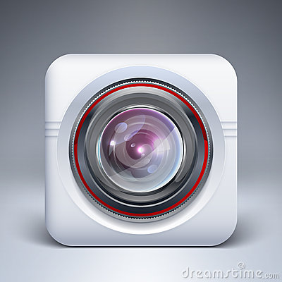 Web camera icon. Vector