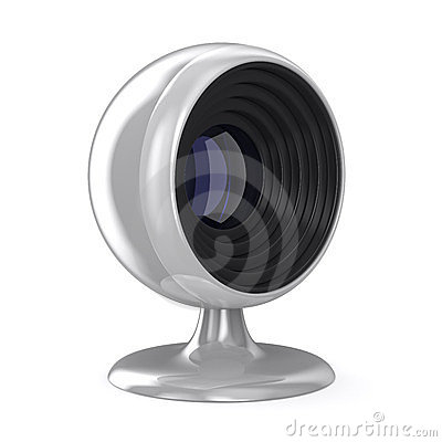 Web camera on white background