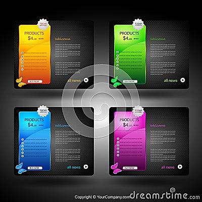Web card design element