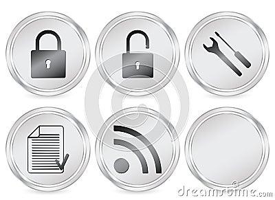 Web circle icon 3 Editorial Photography