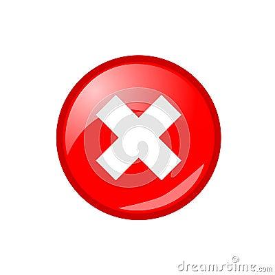 Free Web Close Window Vector Button Stock Photo - 7220470