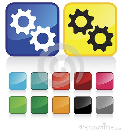 Free Web Cogwheels Buttons Royalty Free Stock Photos - 4227168
