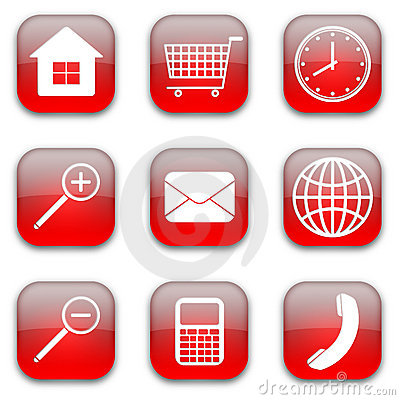Web commerce icons set