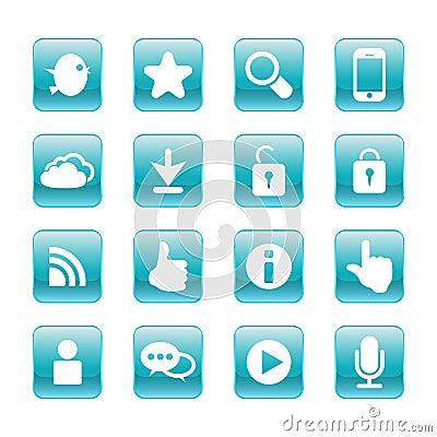 web, communication icons: internet set.