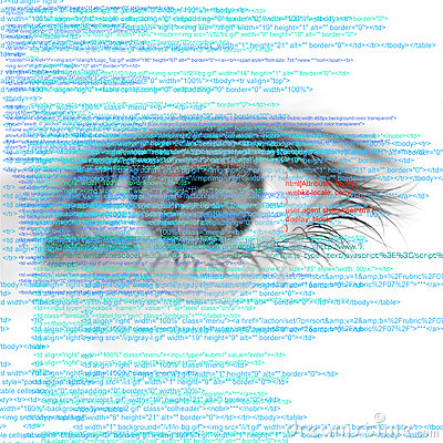Free Web Computer Code With Human Eye Abstract Background Stock Images - 54496794
