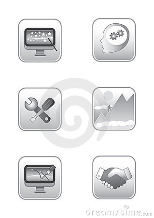 Web concepts icon set