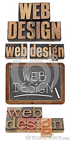 Web design concept collage