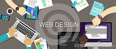 Web Design Content Creative Website Responsive Vector Illustration