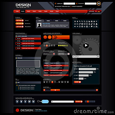 Web Design Elements 5 (Dark Theme)