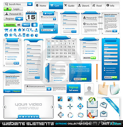 Free Web Design Elements Extreme Collection 2 Stock Photos - 18517893