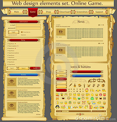 Web design elements game