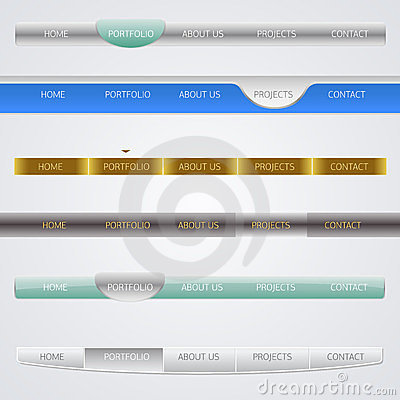 Web design menu