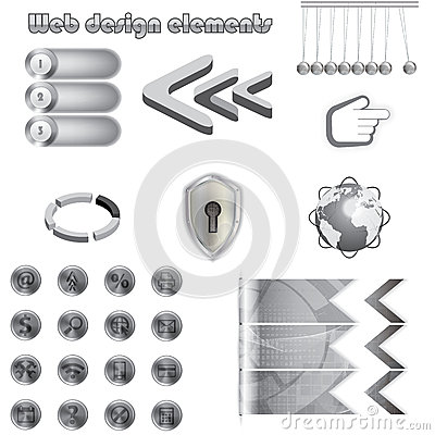 Web design metal elements