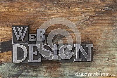 Web design in metal type blocks