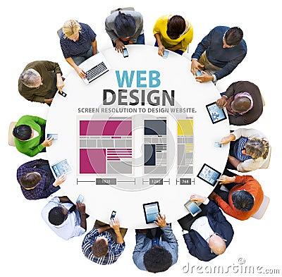 Free Web Design Network Website Ideas Media Information Concept Stock Images - 58366224